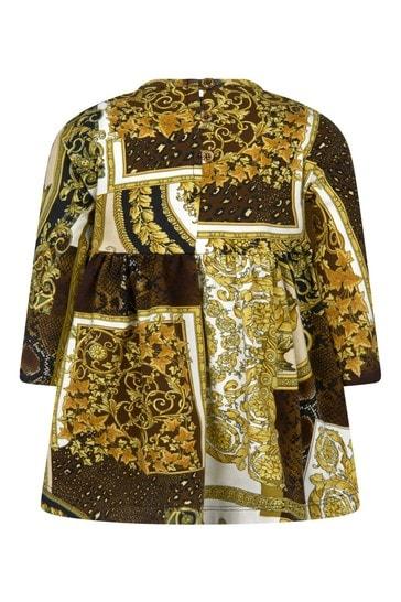 Baby Girls Gold Cotton Dress