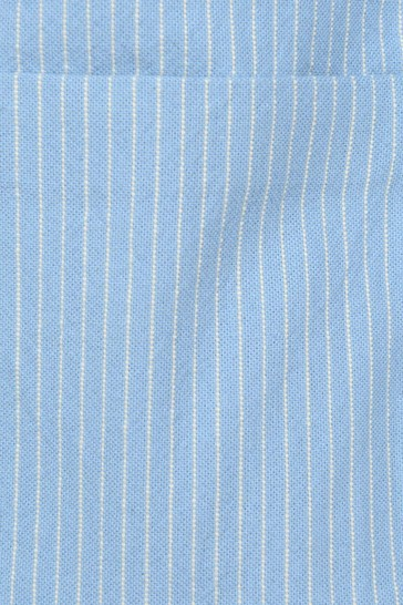Baby Boys Light Blue Cotton Striped Jacket
