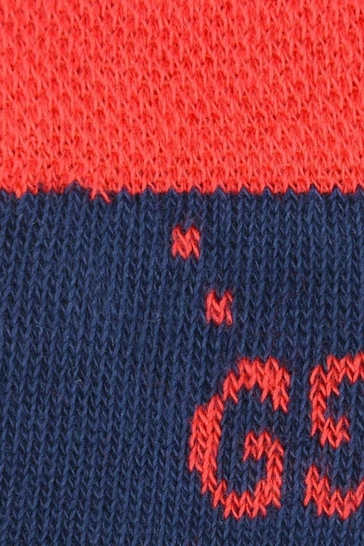 Baby Red and Navy Cotton GG Socks