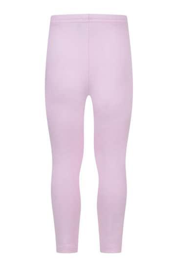 Baby Girls Pink Cotton Logo Leggings