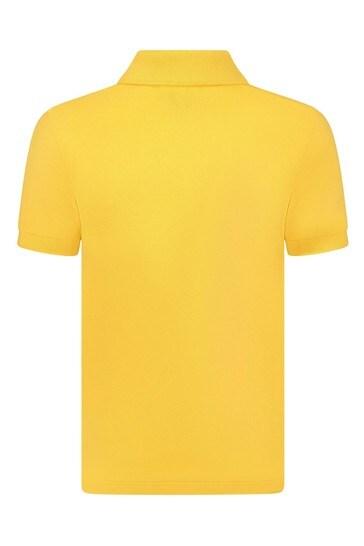Boys Yellow Cotton Polo Top