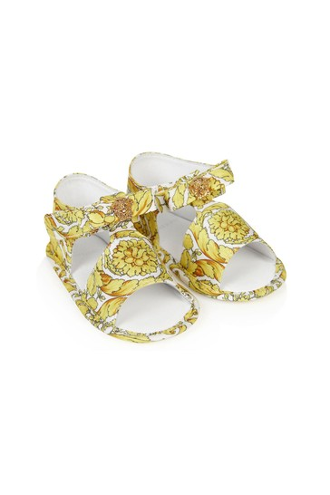 Baby Girls White Leather Sandals