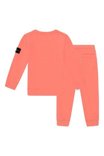 Boys Orange Cotton Tracksuit