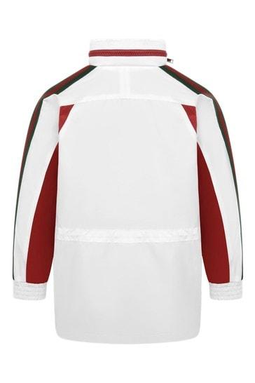 Boys White Lightweight Trim Jacket