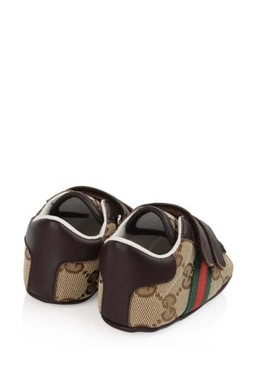Brown GG Pre Walker Shoes