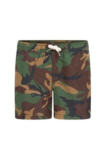 Boys Khaki Swim Shorts