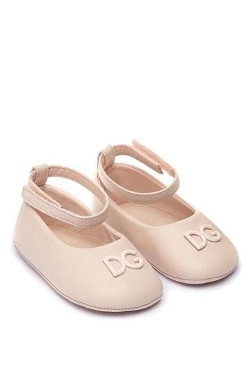 Baby Girls Leather Ballerina Pre-Walkers