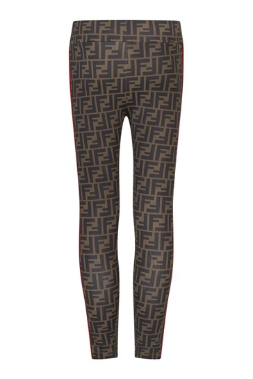 Girls Brown Leggings