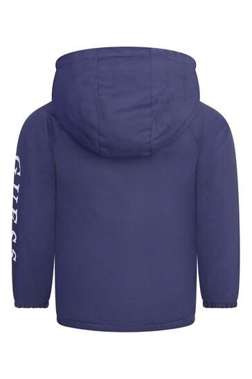 보이즈 블루 후드 로고 재킷