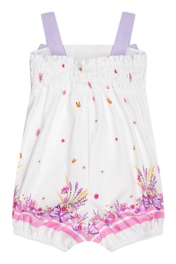 Baby Girls White Cotton Shortie