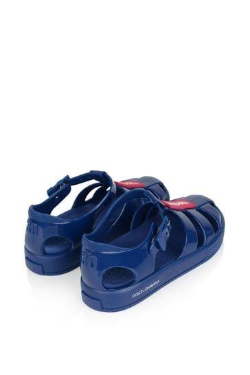 Blue Logo Jelly Sandals