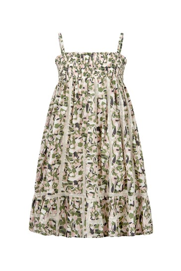 Girls Khaki Cotton Dress