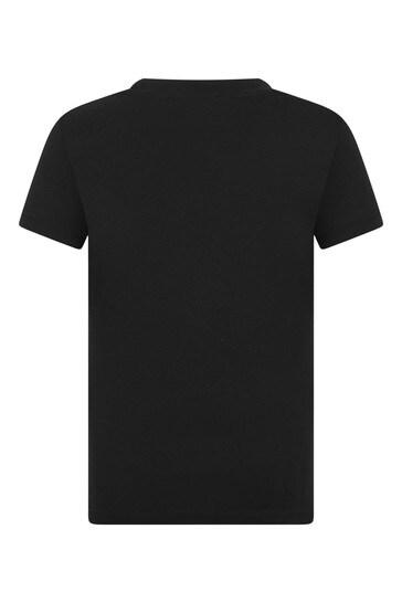키즈 블랙 코튼 스포츠 에디션 티셔츠