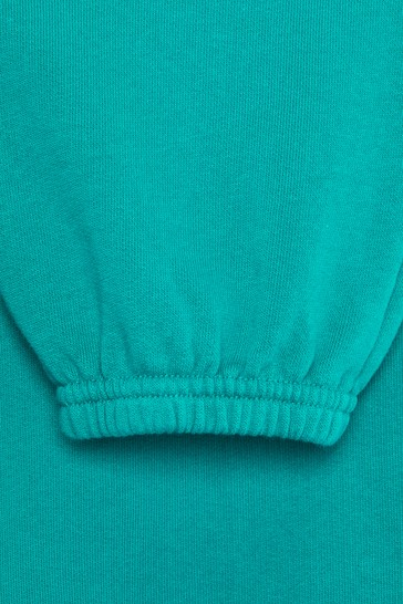 Kids Turquoise Cotton Joggers