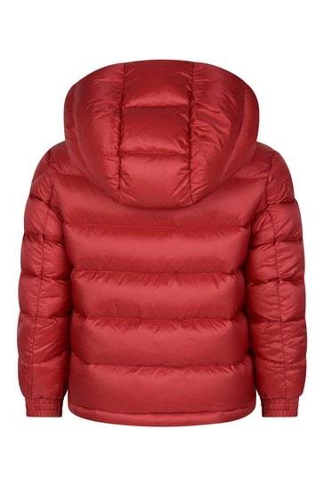 Boys Red Down Padded New Gastonet Jacket