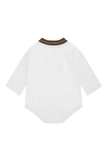 Baby White Cotton Bodysuit
