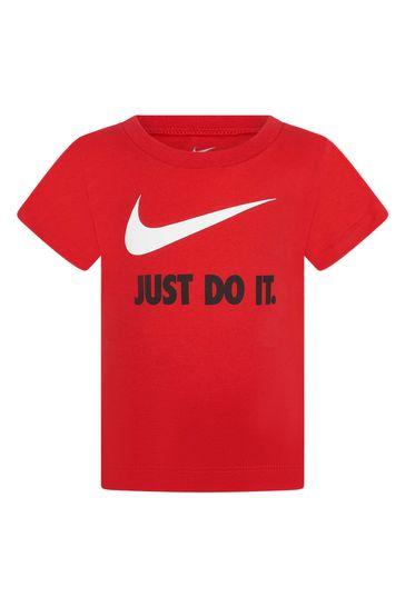 베이비 보이즈 레드 코튼 티셔츠