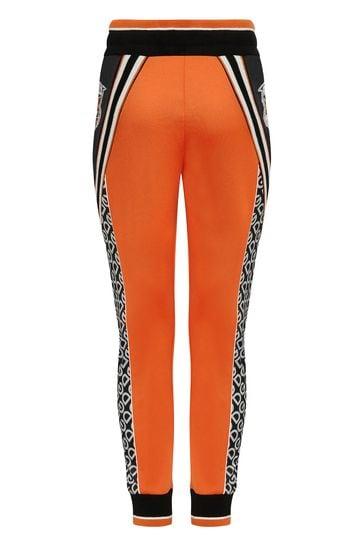 Boys Orange Technical Jersey Joggers