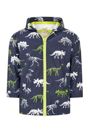 Hatley Boys Blue Dino Fossils Colour Changing Splash Jacket