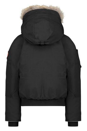 Black Down Padded Rundle Bomber Jacket