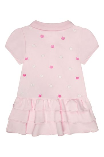 Baby Girls Pink Cotton Bodysuit Dress