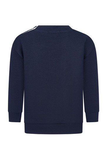 Baby Girls Navy Cotton Sweater