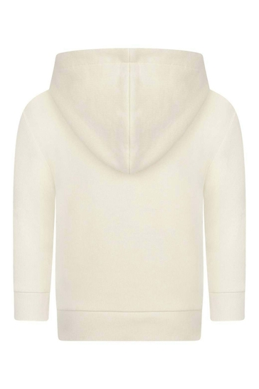 Ivory Hooded Baby Sweater