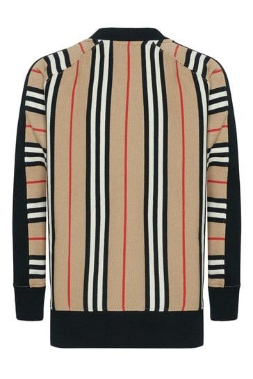 Boys Beige Cotton Sweater