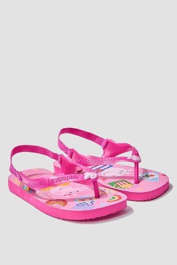 Baby Girls Pink Peppa Pig Flip Flops