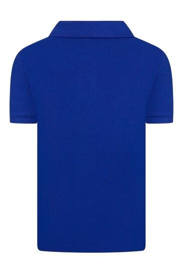 Boys Blue Pique Poloshirt