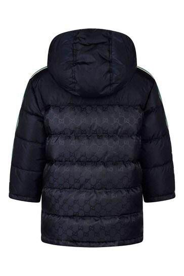 Baby Boys Navy Jacquard Jacket