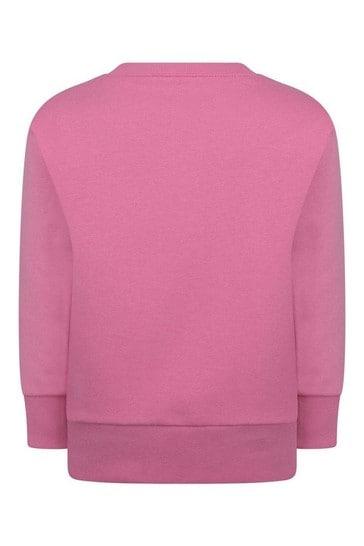 Girls Navy Sequin Logo Sweater