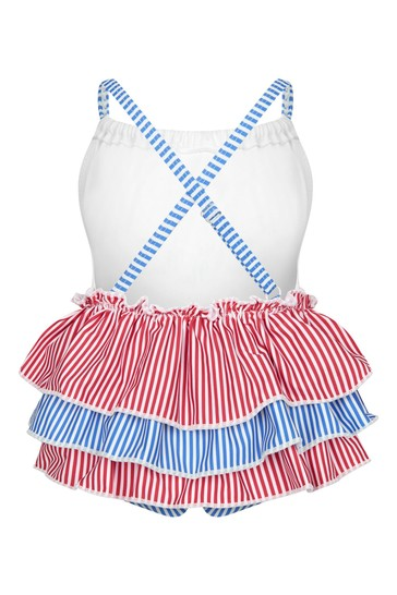 Baby Girls White Swimsuit