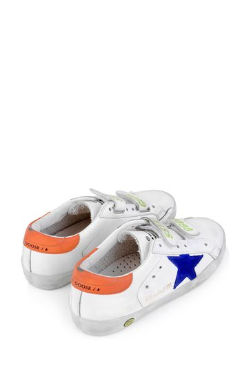 Kids White Leather \u0026 Suede Old School