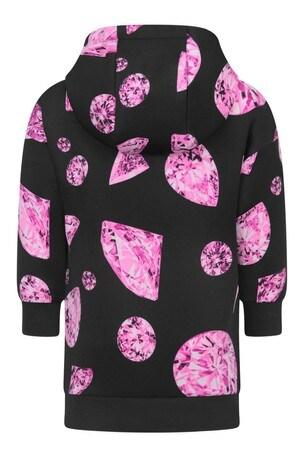Girls Black/Pink Diamond Sweater Dress