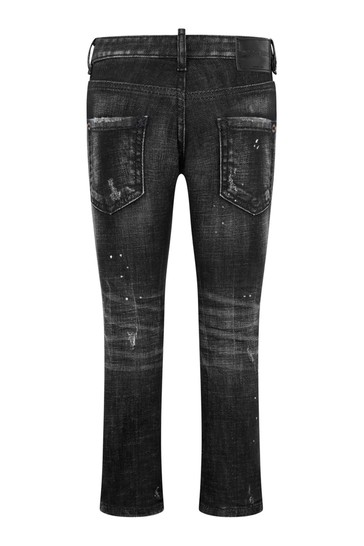 Kids Black Cotton Denim Jeans