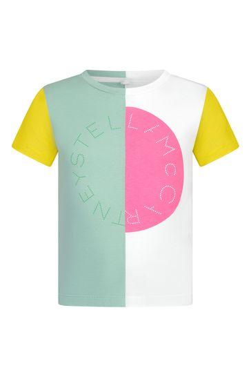 Girls Green Cotton T-Shirt