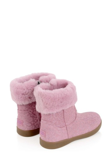 Girls Pink Glitter Leopard Jorie II Boots