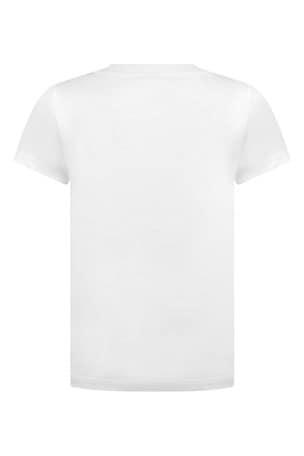 Boys White Cotton Jersey T-Shirt