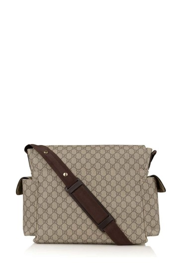 Beige/Brown GG Supreme Baby Changing Bag