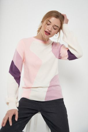Pink Colourblock Jumper