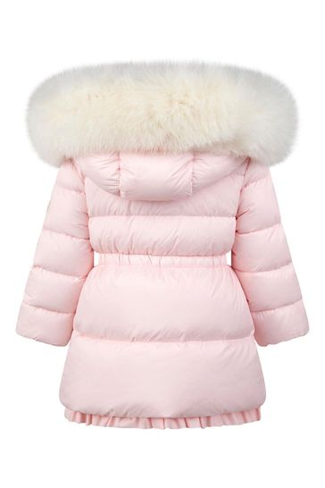 Baby Girls Light Pink Down Padded Kithera Coat