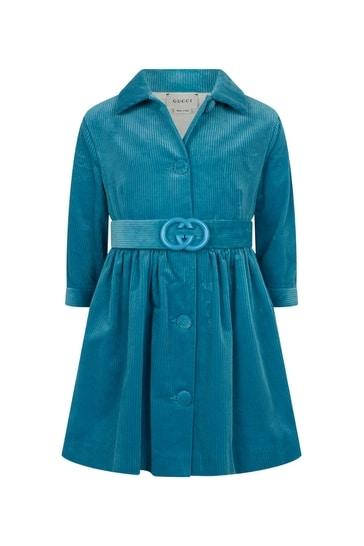 Girls Corduroy Chemisiere Dress