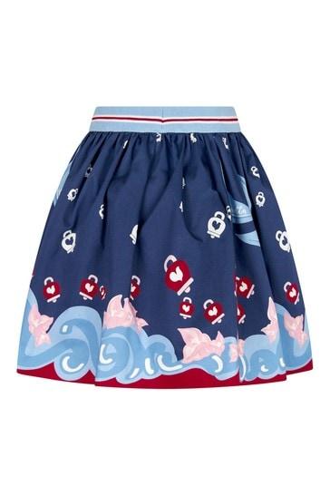 Girls Multi Cotton Skirt