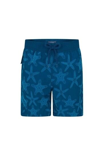 Boys Navy Starfish Swim Shorts