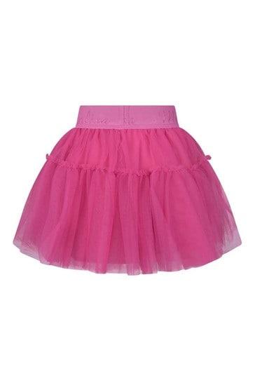 Girls Pink Tulle Skirt