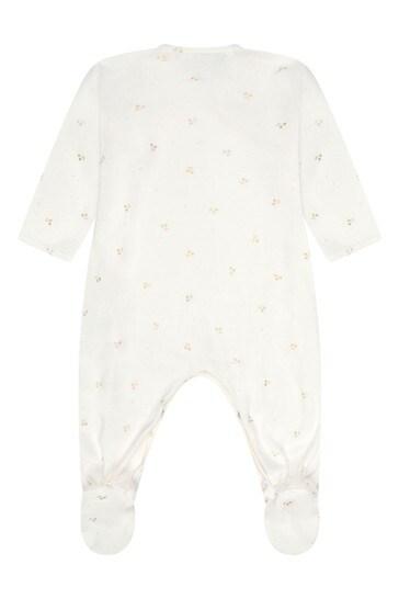 White Cotton Babygrow