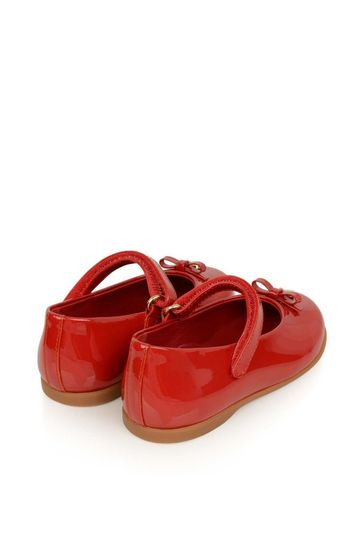 Girls Red Patent Leather Shoes