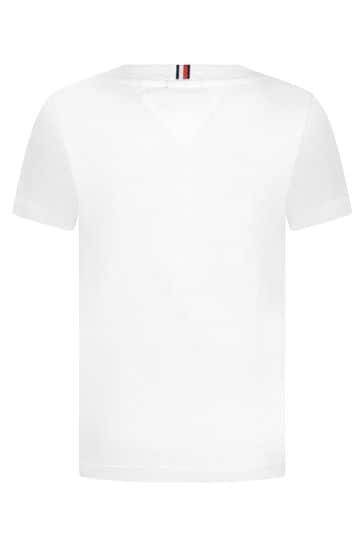 Boys White Organic Cotton Logo T-Shirt