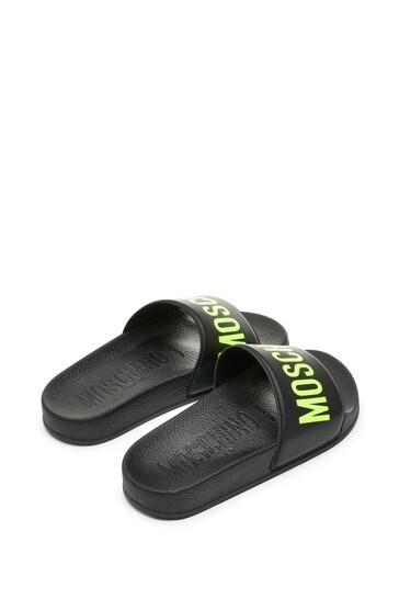 Kids Black Sliders